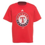 adidas Boys' Texas Rangers Distressed Logo T-shirt