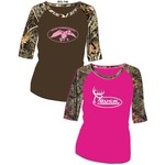 Duck Commander Women's Camo Sleeve Baseball T-shirt