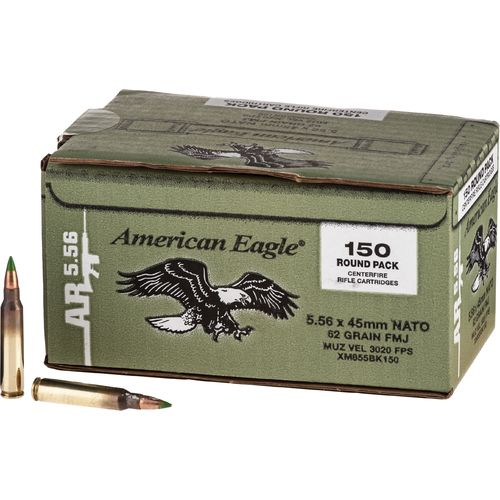 Federal® American Eagle XM855 .556 NATO 62-Grain Centerfire Rifle Ammunition