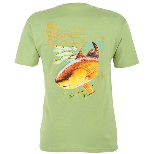 Guy Harvey Men s Redfish Seagrass Short Sleeve T-shirt