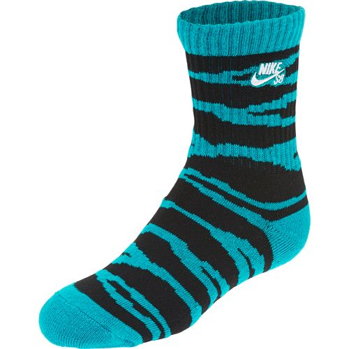 nike boys 39 sb tiger crew socks 3 pair academy. Black Bedroom Furniture Sets. Home Design Ideas
