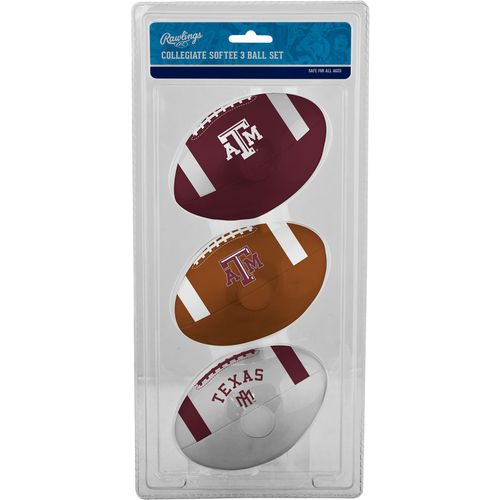 Rawlings® Texas A&M University 3rd Down Softee Footballs 3-Pack