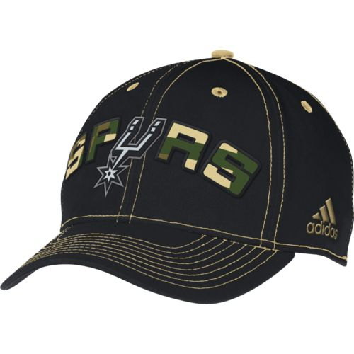 adidas™ Adults' San Antonio Spurs Pro Shape Flex Fit Cap