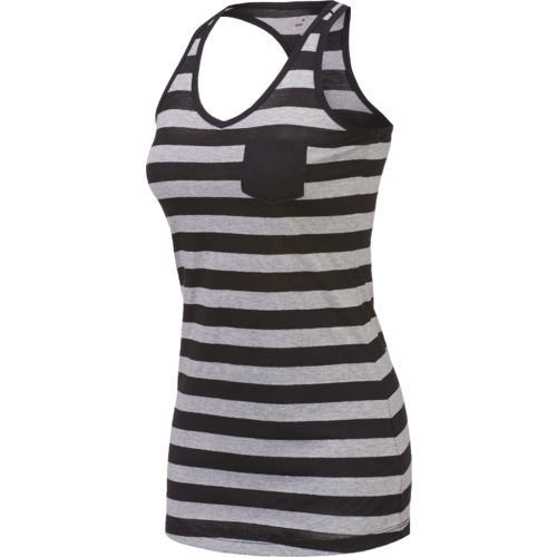 BCG™ Juniors' Lifestyle V-neck Heather Stripe Tank Top