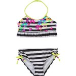 O'Rageous® Girls' Stripe and Floral 2-Piece Swimsuit