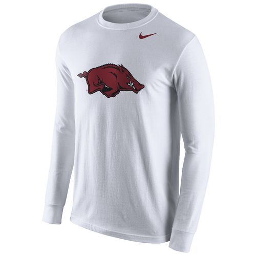 Nike™ Men's University of Arkansas Cotton Long Sleeve Logo T-shirt