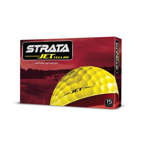 Strata Jet Yellow Golf Balls 15-Pack