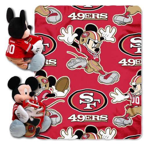 The Northwest Company San Francisco 49ers Mickey Mouse Hugger and Fleece Throw Set