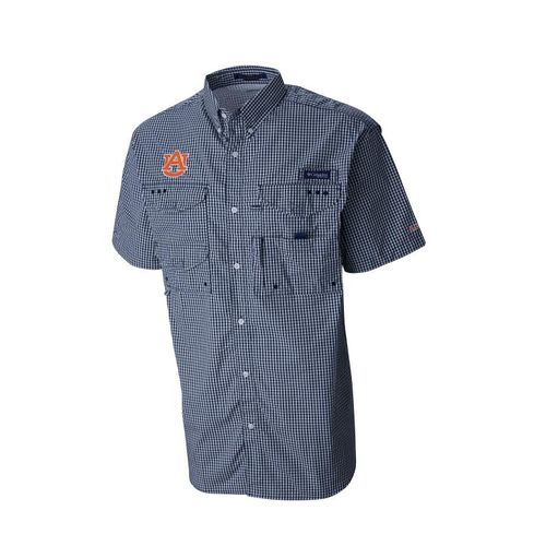 Columbia Sportswear Men's Auburn University Collegiate Super Bonehead™ Short Sleeve Fishing