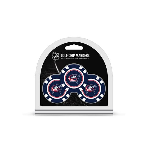 Team Golf Columbus Blue Jackets Poker Chip and Golf Ball Marker Set