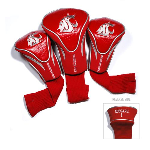 Team Golf Washington State University Contour Sock Head Covers 3-Pack
