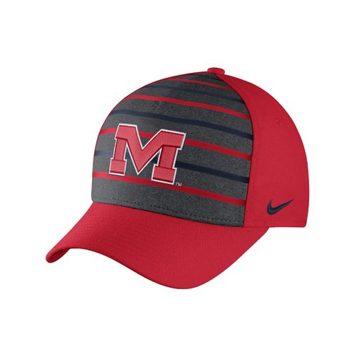 Nike™ Men's University of Mississippi Classic Verbiage Swoosh Flex Cap