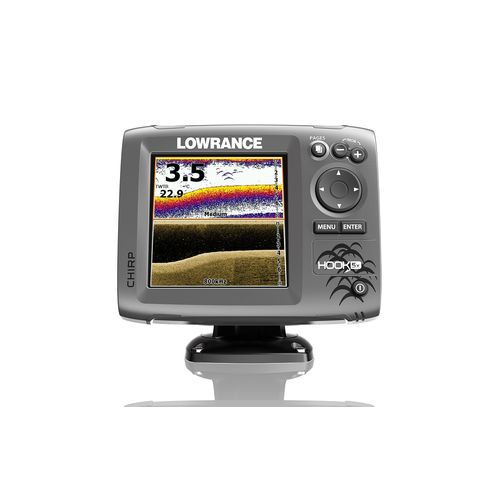 Lowrance hook 5x mid high downscan fishfinder academy for Academy fish finder