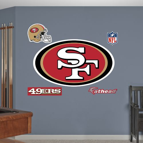 Fathead San Francisco 49ers Real Big Team Logo Decal