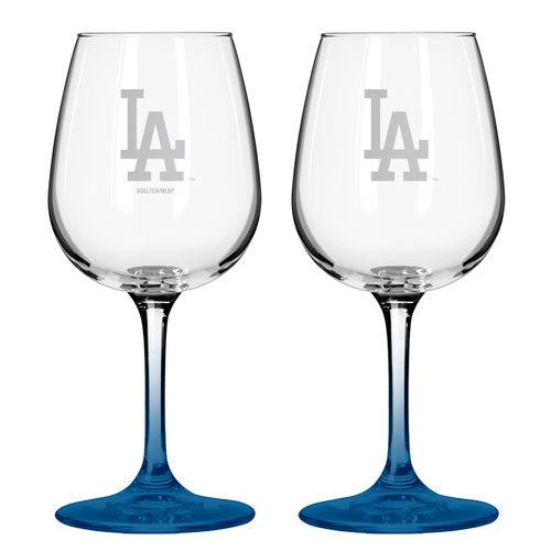Boelter Brands Los Angeles Dodgers 12 oz. Wine Glasses 2-Pack
