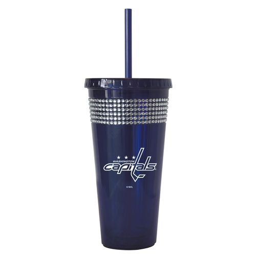 Boelter Brands Washington Capitals 22 oz. Bling Straw Tumblers 2-Pack