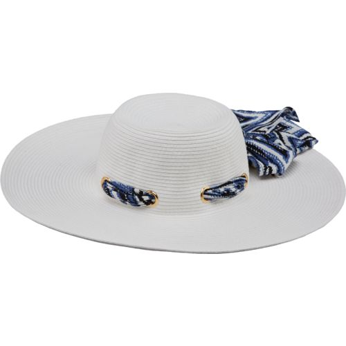 O'Rageous® Women's Paper Sun Hat with Chiffon Trim