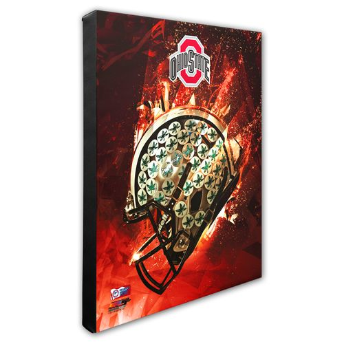 Photo File Ohio State University Helmet Stretched Canvas