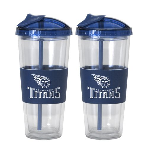 Boelter Brands Tennessee Titans 22 oz. No-Spill Straw Tumblers 2-Pack