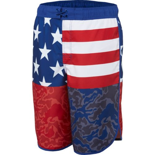 O'Rageous Men's Americana SH 11 in E-Board Swim Short