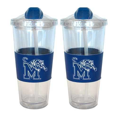 Boelter Brands University of Memphis 22 oz. No-Spill Straw Tumblers 2-Pack