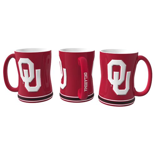 Boelter Brands University of Oklahoma 14 oz. Relief Mugs 2-Pack