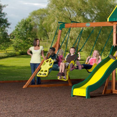 Backyard Discovery™ Prairie Ridge Wooden Swing Set - view number 4