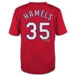 Majestic Boys' Texas Rangers Cole Hamels #35 Short Sleeve T-shirt