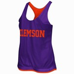 Colosseum Athletics Women's Clemson University Triple Crown Reversible Tank Top