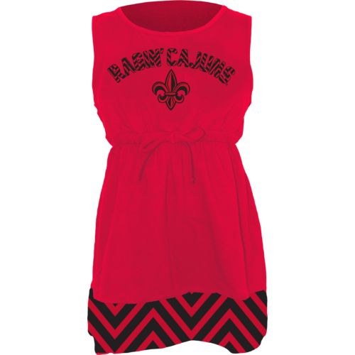 Klutch Apparel Toddlers' University of Louisiana at Lafayette Chevron Dress
