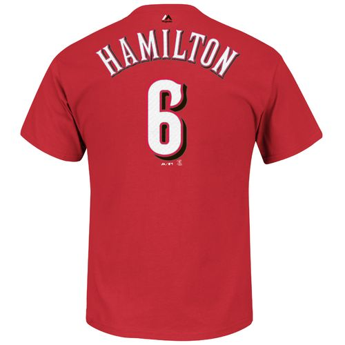 Majestic Men's Cincinnati Reds Billy Hamilton #6 T-shirt