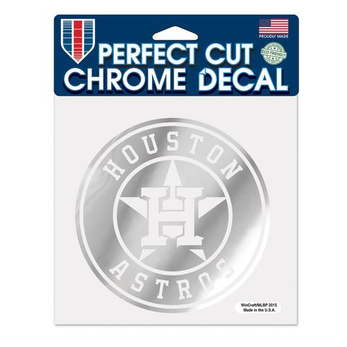 WinCraft Houston Astros Chrome Perfect Cut Decal