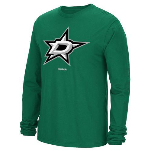 Reebok Men's Dallas Stars Jersey Crest Long Sleeve T-shirt
