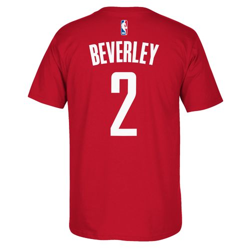 adidas™ Men's Houston Rockets Patrick Beverly #2 Gametime Flat T-shirt