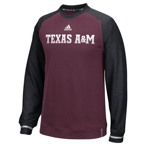 adidas™ Men's Texas A&M University Sideline Player Crew Top