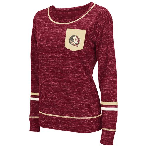 Colosseum Athletics™ Women's Florida State University Homies Raw Edge Pocket T-shirt
