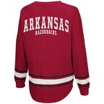 Colosseum Athletics™ Women's University of Arkansas My Boyfriend Varsity Pullover