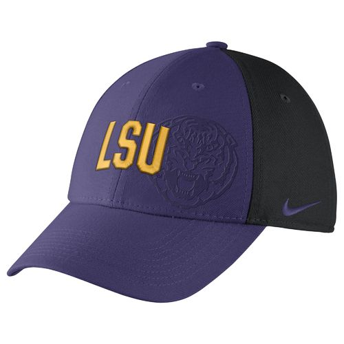 Nike™ Men's Louisiana State University Classic Wordmark Swoosh Flex Cap - view number 1