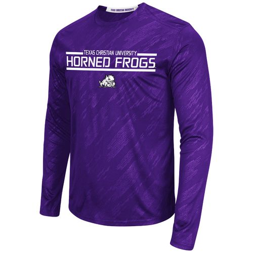 Colosseum Athletics™ Men's Texas Christian University Sleet Embossed Long Sleeve T-shirt