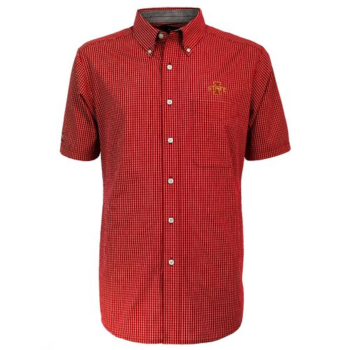 Antigua Men's Iowa State University League Short Sleeve