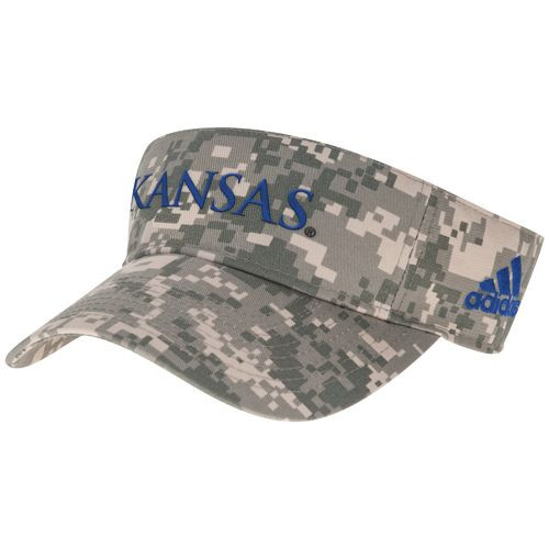adidas™ Men's University of Kansas Digital Camo Visor