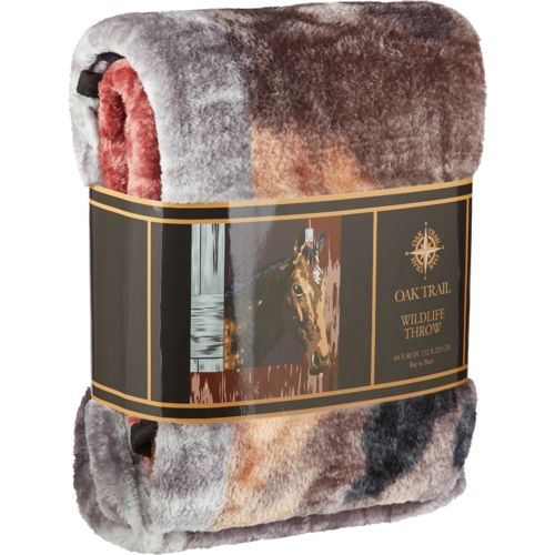 "Oak Trail 60"" x 80"" Horse Raschel Blanket"