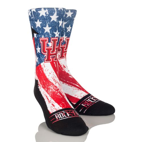 Rock 'Em Apparel Men's University of Houston Stars and Stripes Socks
