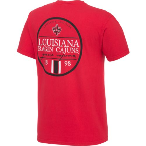 Image One Men's University of Louisiana at Lafayette Simple Circle Lines T-shirt