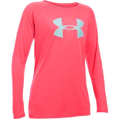 Under Armour Girls' Big Logo Long Sleeve T-shirt