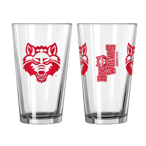 Boelter Brands Arkansas State University Game Day 16 oz. Pint Glasses 2-Pack