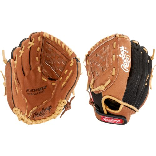 Youth Baseball Glove Leather : Rawlings youth playmaker series in baseball glove left