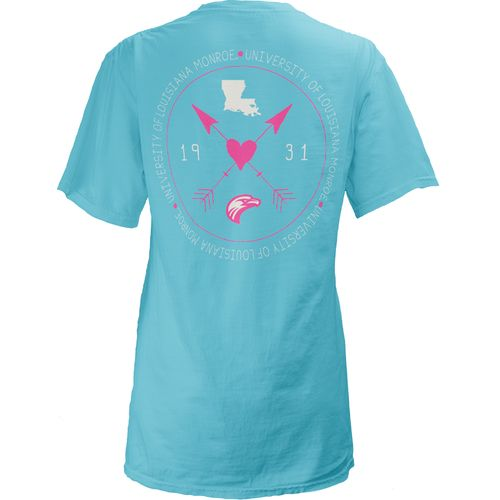 Three Squared Juniors' University of Louisiana at Monroe Boho Arrow Pocketed T-shirt - view number 1
