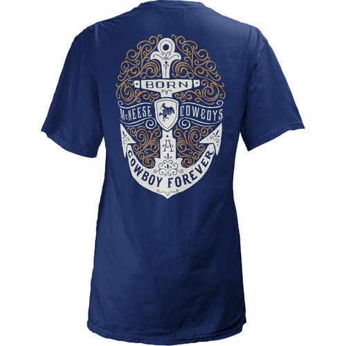 Three Squared Juniors' McNeese State University Anchor Flourish V-neck T-shirt