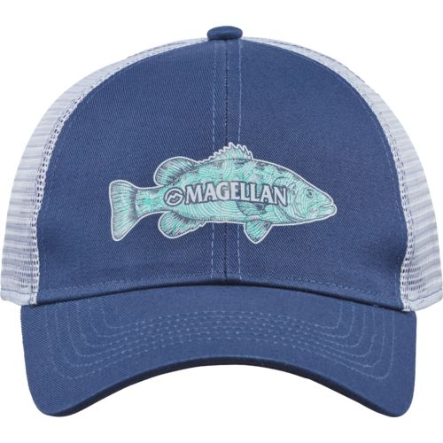 Magellan Outdoors Men's Sketched Bass Trucker Cap